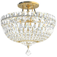 Petit Crystal Deluxe 6 Light 12 inch Aurelia Semi Flush Mount Ceiling Light in Petite Deluxe Gemcut