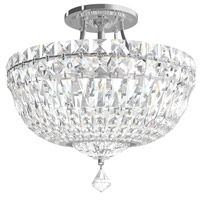 Schonbek 5901-40A Petit Crystal Deluxe 6 Light 12 inch Silver Semi Flush Mount Ceiling Light in Polished Silver Clear Spectra