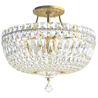 Petit Crystal Deluxe 8 Light 14 inch Aurelia Semi Flush Mount Ceiling Light in Petite Deluxe Gemcut