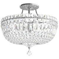 Schonbek 5902-40A Petit Crystal Deluxe 8 Light 14 inch Silver Semi Flush Mount Ceiling Light in Polished Silver, Clear Spectra