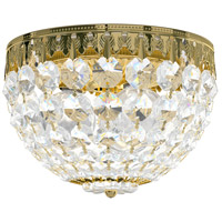 Schonbek 1558-211A Petit Crystal 3 Light 8 inch Aurelia Flush Mount Ceiling Light in Spectra