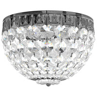 Schonbek 1558-40A Petit Crystal 3 Light 8 inch Silver Flush Mount Ceiling Light in Polished Silver Clear Spectra