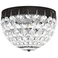 Schonbek 1558-76A Petit Crystal 3 Light 8 inch Heirloom Bronze Flush Mount Ceiling Light in Clear Spectra