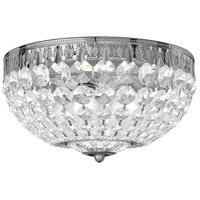 Schonbek 1560-40A Petit Crystal 4 Light 10 inch Silver Flush Mount Ceiling Light in Spectra, Polished Silver
