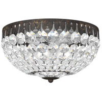 Schonbek 1560-76A Petit Crystal 4 Light 10 inch Heirloom Bronze Flush Mount Ceiling Light in Spectra