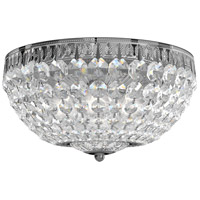 Schonbek 1562-40A Petit Crystal 5 Light 12 inch Silver Flush Mount Ceiling Light in Spectra Polished Silver