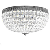 Petit Crystal 5 Light 14 inch Silver Flush Mount Ceiling Light in Polished Silver, Clear Spectra