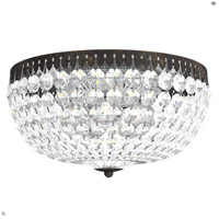Schonbek 1564-76A Petit Crystal 5 Light 14 inch Heirloom Bronze Flush Mount Ceiling Light in Spectra