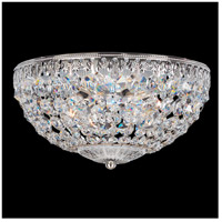 Schonbek 1560-40A Petit Crystal 4 Light 10 inch Silver Flush Mount Ceiling Light in Clear Spectra