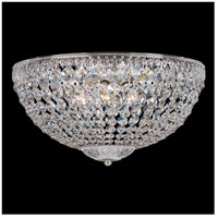 Petit Crystal 5 Light 14 inch Silver Flush Mount Ceiling Light in Clear Spectra