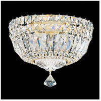 Petit Crystal Deluxe 4 Light 10 inch Aurelia Flush Mount Ceiling Light in Clear Gemcut
