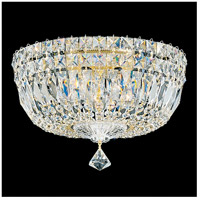 Petit Crystal Deluxe 5 Light 12 inch Aurelia Flush Mount Ceiling Light in Clear Gemcut