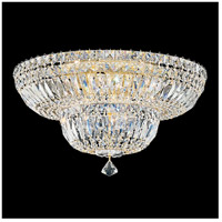 Petit Crystal Deluxe 9 Light 18 inch Aurelia Flush Mount Ceiling Light in Clear Gemcut