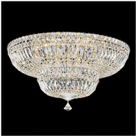 Petit Crystal Deluxe 13 Light 24 inch Aurelia Flush Mount Ceiling Light in Clear Gemcut