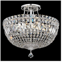 Petit Crystal Deluxe 8 Light 14 inch Silver Semi Flush Mount Ceiling Light in Clear Spectra