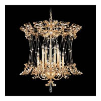 Schonbek Petite Laurelie 10 Light Chandelier in French Gold and Crystal Swarovski Elements Trim PL6552N-26S