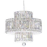 Schonbek 6671S Plaza 9 Light 15 inch Stainless Steel Pendant Ceiling Light in Clear Swarovski