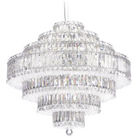 Plaza 31 Light 28 inch Stainless Steel Pendant Ceiling Light in Clear Swarovski