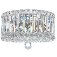 Schonbek 6692S Plaza 4 Light 10 inch Stainless Steel Flush Mount Ceiling Light in Clear Swarovski
