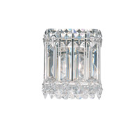 Schonbek Quantum 1 Light Wall Sconce in Stainless Steel and Clear Spectra Crystal Trim 2220A