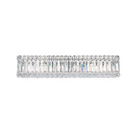 Schonbek Quantum 6 Light Bath Light in Stainless Steel and Clear Spectra Crystal Trim 2224A photo thumbnail