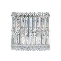 Schonbek Quantum 4 Light Wall Sconce in Stainless Steel and Clear Spectra Crystal Trim 2230A