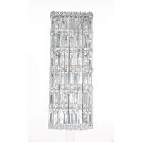 Schonbek Quantum 10 Light Wall Sconce in Stainless Steel and Clear Spectra Crystal Trim 2232A