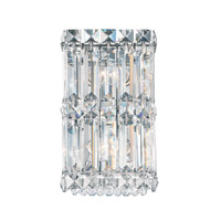 Schonbek Quantum 2 Light Wall Sconce in Stainless Steel and Clear Spectra Crystal Trim 2235A