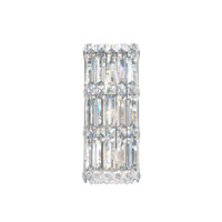 Schonbek Quantum 3 Light Wall Sconce in Stainless Steel and Clear Spectra Crystal Trim 2236A