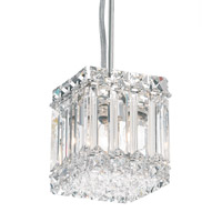 Schonbek 2245A Quantum 2 Light 4 inch Stainless Steel Pendant Ceiling Light in Clear Spectra photo thumbnail
