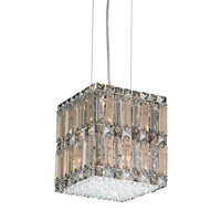 Schonbek Quantum 8 Light Pendant in Stainless Steel and Silver Teak Swarovski Elements Trim 2246ST