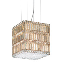 Schonbek Quantum 13 Light Pendant in Stainless Steel and Golden Shadow Swarovski Elements Trim 2247GS