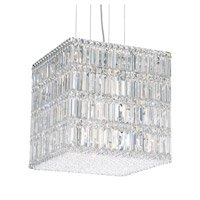 Schonbek Quantum 21 Light Pendant in Stainless Steel and Clear Spectra Crystal Trim 2248A