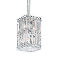 Schonbek Quantum 4 Light Pendant in Stainless Steel and Clear Spectra Crystal Trim 2251A