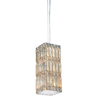 Schonbek Quantum 6 Light Pendant in Stainless Steel and Golden Shadow Swarovski Elements Trim 2252GS