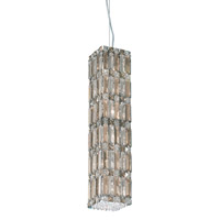 Schonbek Quantum 12 Light Pendant in Stainless Steel and Silver Teak Swarovski Elements Trim 2255ST