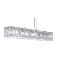 Quantum 9 Light 36 inch Stainless Steel Pendant Ceiling Light in Clear Spectra