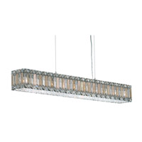 Schonbek Quantum 10 Light Pendant in Stainless Steel and Silver Teak Swarovski Elements Trim 2261ST