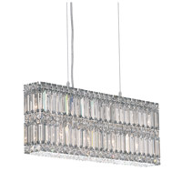 Schonbek Quantum 9 Light Pendant in Stainless Steel and Silver Shade Swarovski Elements Trim 2263SH photo thumbnail