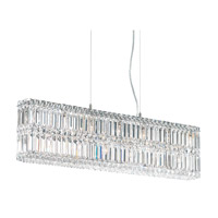 Schonbek Quantum 13 Light Pendant in Stainless Steel and Clear Spectra Crystal Trim 2265A photo thumbnail