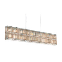 Schonbek Quantum 17 Light Pendant in Stainless Steel and Golden Shadow Swarovski Elements Trim 2267GS