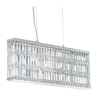 Schonbek Quantum 13 Light Pendant in Stainless Steel and Clear Spectra Crystal Trim 2269A