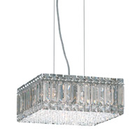Schonbek Quantum 8 Light Pendant in Stainless Steel and Silver Shade Swarovski Elements Trim 2270SH