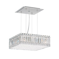 Quantum 9 Light 15 inch Stainless Steel Pendant Ceiling Light in Clear Spectra