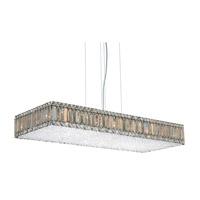 Schonbek Quantum 23 Light Pendant in Stainless Steel and Silver Teak Swarovski Elements Trim 2274ST