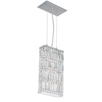 Schonbek Quantum 6 Light Pendant in Stainless Steel and Clear Spectra Crystal Trim 2277A