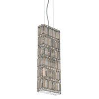 Schonbek Quantum 10 Light Pendant in Stainless Steel and Silver Teak Swarovski Elements Trim 2279ST