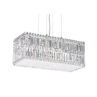Schonbek Quantum 18 Light Pendant in Stainless Steel and Clear Spectra Crystal Trim 2280A photo thumbnail