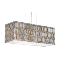 Schonbek Quantum 33 Light Pendant in Stainless Steel and Silver Teak Swarovski Elements Trim 2281ST
