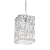 Schonbek Quantum 9 Light Pendant in Stainless Steel and Clear Spectra Crystal Trim 2286A